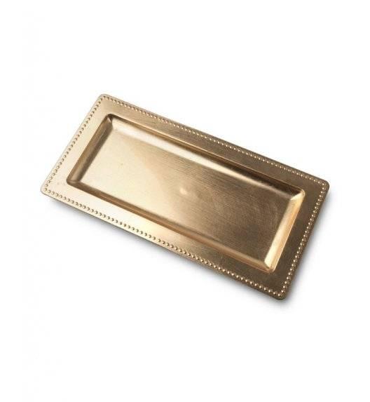 MONDEX BLANCHE GOLD Podstawka pod świece 36 x 12 cm / złota / tworzywo sztuczne