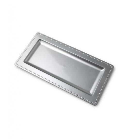 MONDEX BLANCHE SILVER Podstawka pod świece 36 x 12 cm / srebrna / tworzywo sztuczne