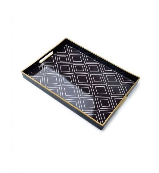 MONDEX BLANCHE COLOURS Taca dekoracyjna 40 x 25,6 cm / geometryczny wzór / tworzywo sztuczne