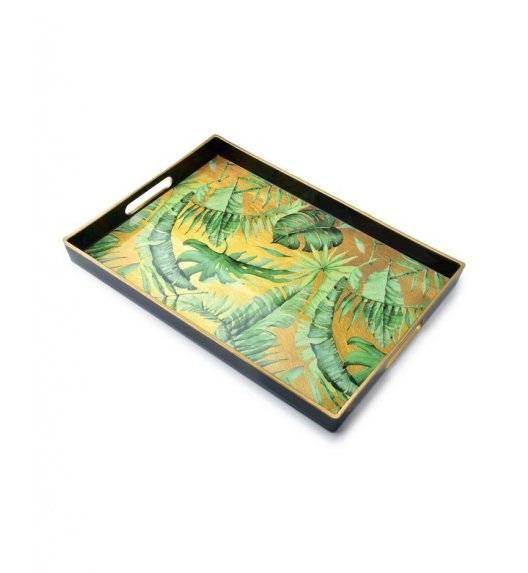 MONDEX BLANCHE COLOURS Taca dekoracyjna 40 x 25,6 cm / zielone liście / tworzywo sztuczne