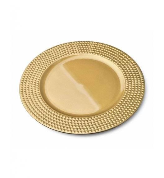MONDEX BLANCHE GOLD Podtalerz dekoracyjny 33 cm / złoty + żłobienia / tworzywo sztuczne