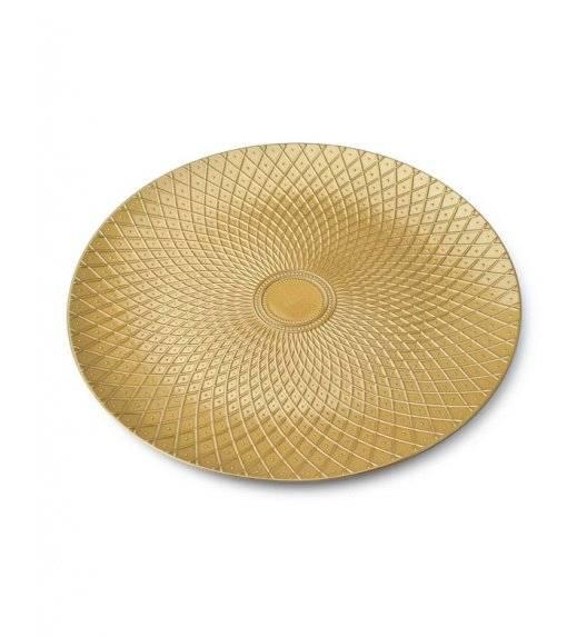 MONDEX BLANCHE GOLD Podtalerz dekoracyjny 33 cm / złoty + żłobienie / tworzywo sztuczne