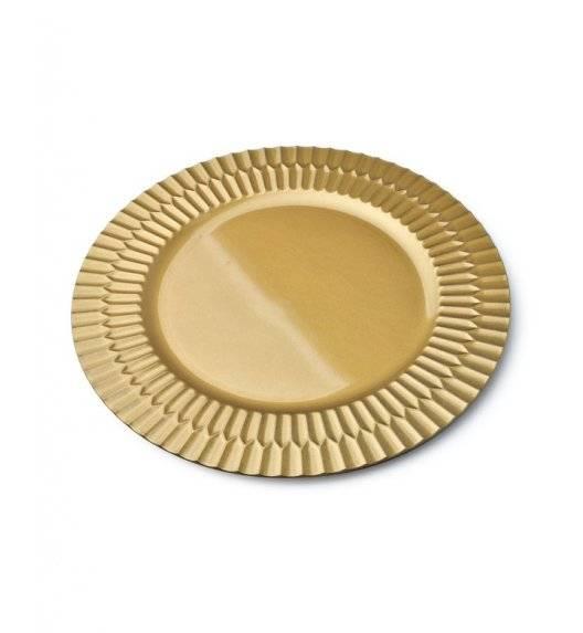 MONDEX BLANCHE GOLD Podtalerz dekoracyjny 33 cm / złoty / tworzywo sztuczne