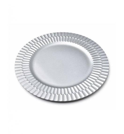 MONDEX BLANCHE SILVER Podtalerz dekoracyjny 33 cm / srebrny / tworzywo sztuczne