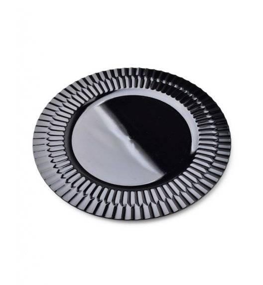 MONDEX BLANCHE COLOURS Podtalerz dekoracyjny 33 cm / czarny / tworzywo sztuczne
