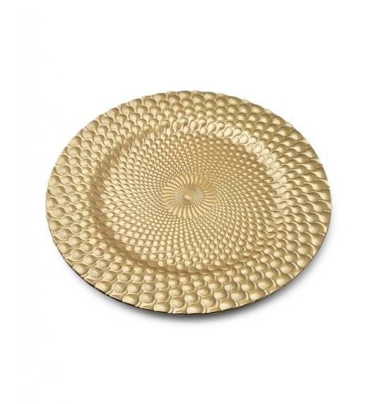 MONDEX BLANCHE GOLD Podtalerz dekoracyjny 33 cm / złoty + efektowne żłobienie / tworzywo sztuczne