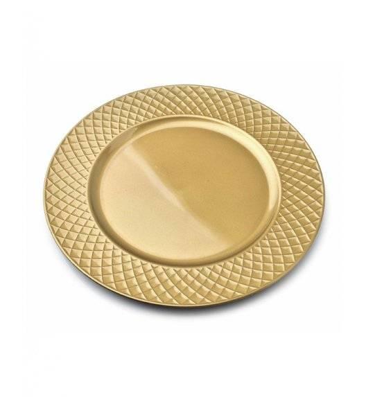 MONDEX BLANCHE GOLD Podtalerz dekoracyjny 33 cm / złoty + delikatne żłobienia / tworzywo sztuczne