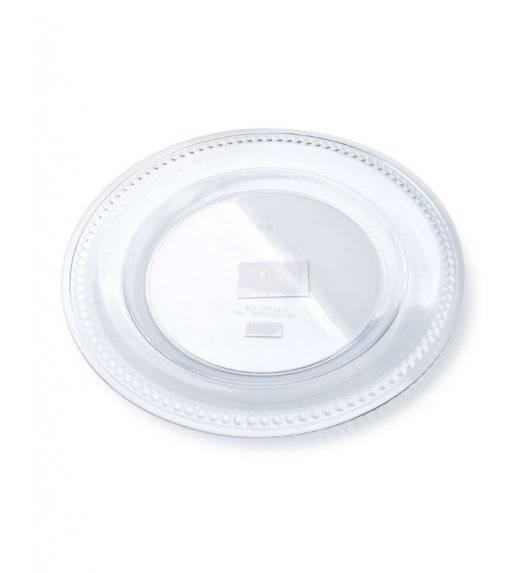 MONDEX BLANCHE CLEAR Podtalerz dekoracyjny 33 cm / transparentny z wypukłym żłobieniem / tworzywo sztuczne