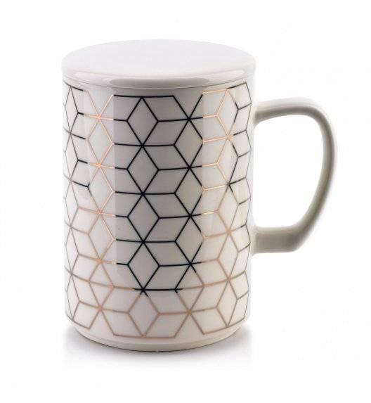 AFFEKDESIGN CHIC GEO Kubek z pokrywką / 460ml / porcelana