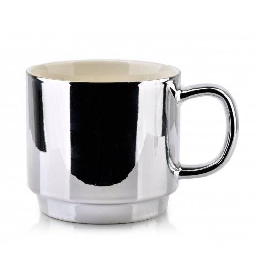 AFFEKDESIGN CHIC Kubek srebrny / 420 ml / porcelana