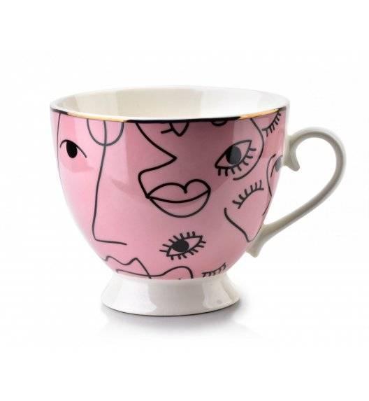 AFFEKDESIGN EYE Kubek / różowy / 400 ml / porcelana