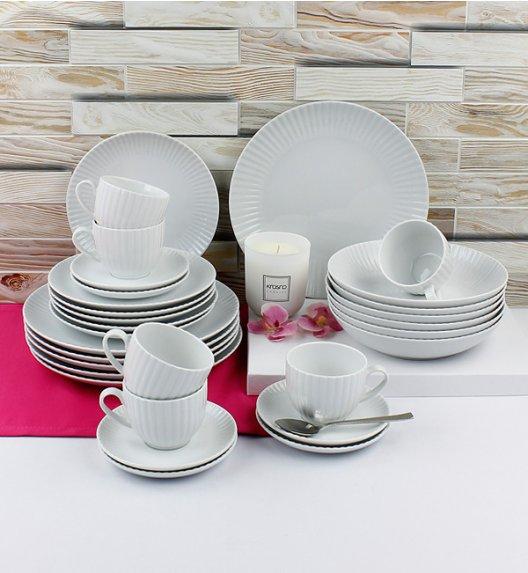 LUBIANA DAISY Serwis obiadowo - kawowy 24 osoby / 120 elementów / Porcelana