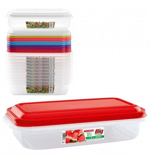 PLASTIC FORTE Pojemnik plastikowy prostokątny / 2 L / mix kolorów / tworzywo sztuczne