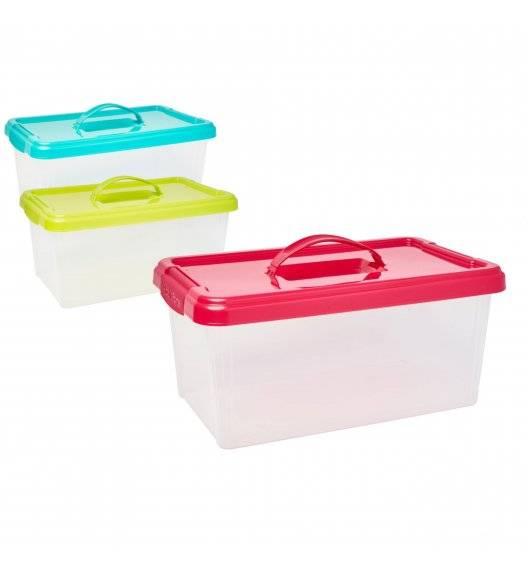PLASTIC FORTE Pojemnik do przechowywania z uchwytem / mix kolorów / tworzywo sztuczne