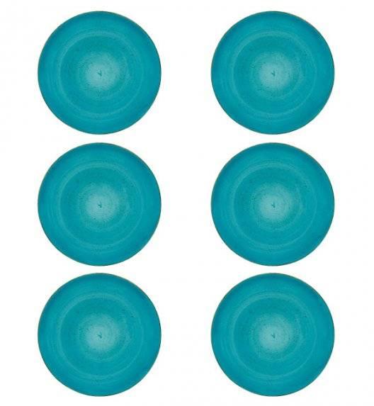 LUBIANA BOSS 6630L Komplet Talerze obiadowe 27 cm / 6 os / 6 el / morski / porcelana ręcznie malowana