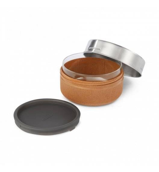 BLACK+BLUM Lunch bowl / pojemnik na lunch / 0,75 L / srebrny, migdałowy / tworzywo sztuczne, stal nierdzewna, szkło