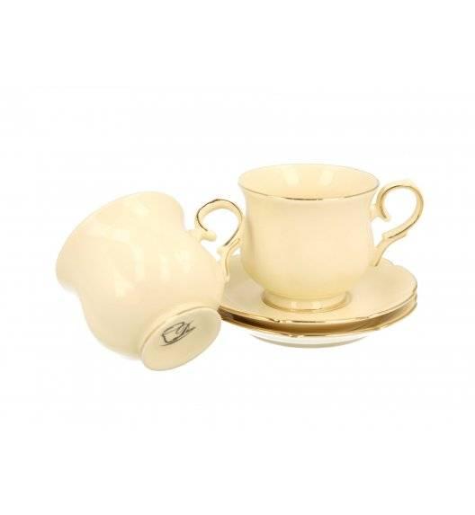 DUO CLARK Filiżanki espresso ze spodkami / 2 sztuki / 150 ml / porcelana