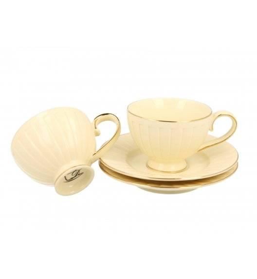 DUO NINA Komplet 2 filiżanek espresso ze spodkami / 120 ml / Porcelana