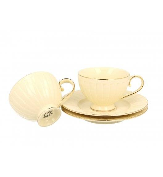 DUO NINA Komplet 2 filiżanek ze spodkami / 220 ml / Porcelana