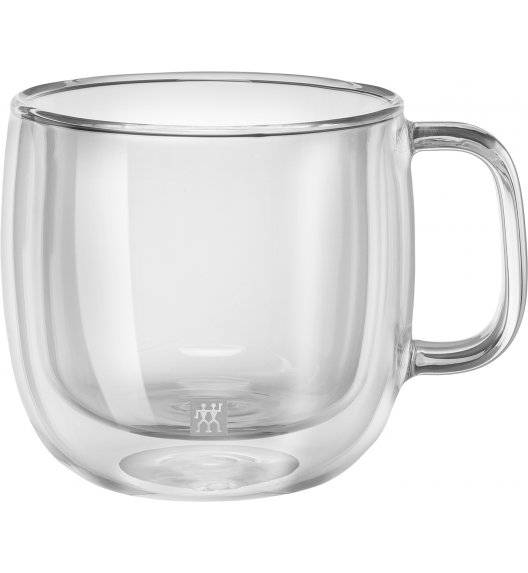 ZWILLING SORRENTO Zestaw dwóch szklanek do cappucino / 450 ml / szkło
