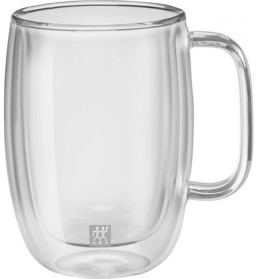 ZWILLING SORRENTO Zestaw dwóch szklanek do latte macchiato z uchwytem / 450 ml / szkło