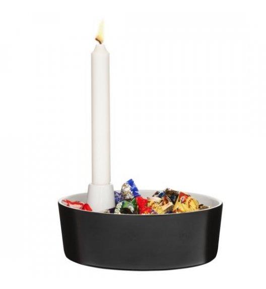 WYPRZEDAŻ! SAGAFORM Misa do serwowania ze świcznikiem ⌀ 20 cm CHRISTMAS czarna / FreeForm