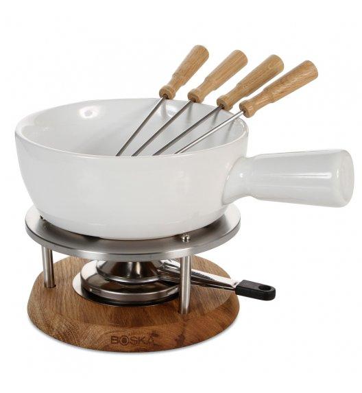 WYPRZEDAŻ! BOSKA Zestaw fondue 1 l / ceramika + drewno dębowe / LENA