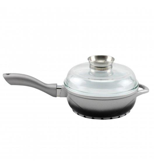 STARKE PROVA Patelnia ceramiczna + pokrywka z aromatyzerem 24 cm / indukcja