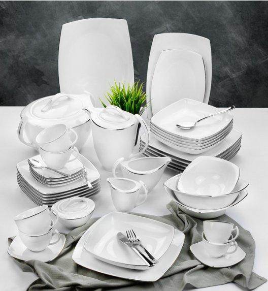 WYPRZEDAŻ! CHODZIEŻ AKCENT Zestaw obiad-kawa 22 el / Platynowa linia / porcelana