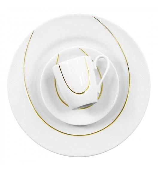 WYPRZEDAŻ! CHODZIEŻ VEGA złota linia Serwis kawowy 15 el / 5 osób / porcelana