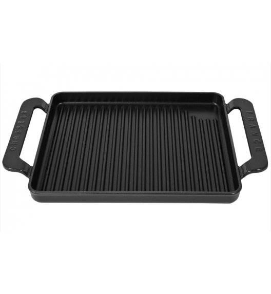 CHASSEUR Taca grillowa mała / 35 x 22 cm / czarny / żeliwo emaliowane