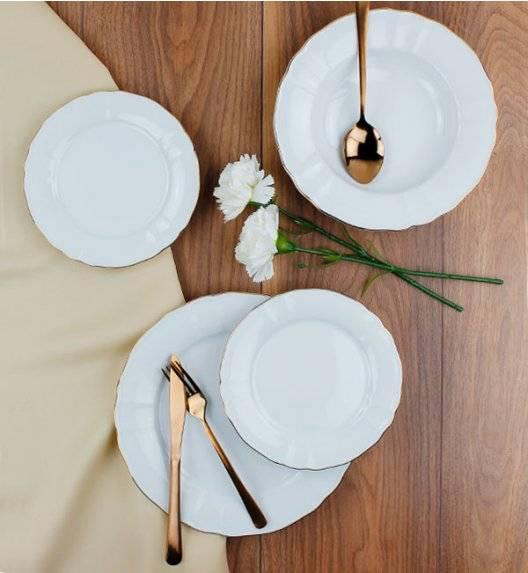LUBIANA MARIA ZŁOTY PASEK 6026A Serwis obiadowy 54 el / 18 osób / porcelana