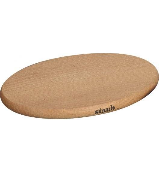 STAUB Deska magnetyczna owalna / Ø 29 cm / drewno