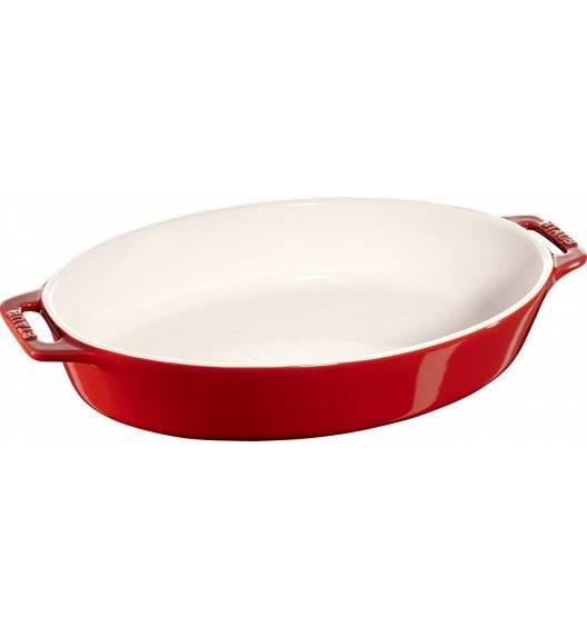 STAUB COOKING Owalny półmisek ceramiczny / Ø 29 cm / czerwony / ceramika