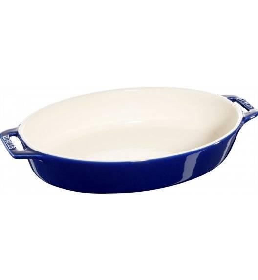 STAUB COOKING Owalny półmisek ceramiczny / 2,3 l / Ø 29 cm / niebieski / ceramika