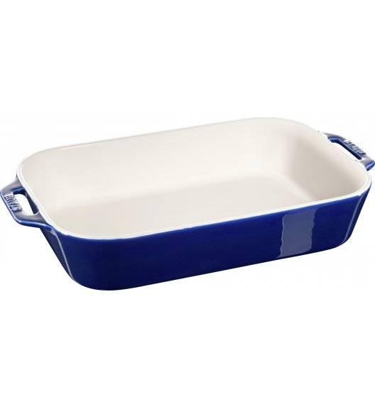STAUB COOKING Prostokątny półmisek ceramiczny / 4,5 l / 34 x 24 cm / niebieski / ceramika