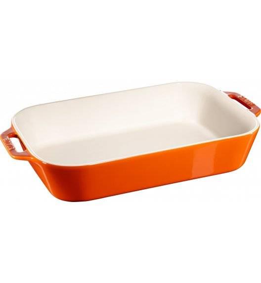 STAUB COOKING Prostokątny półmisek ceramiczny / 4,5 l / 34 x 24 cm / pomarańczowy / ceramika