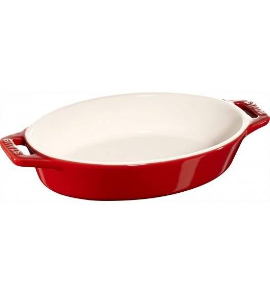 STAUB COOKING Owalny półmisek ceramiczny / 400 ml / Ø 17 cm / czerwony / ceramika