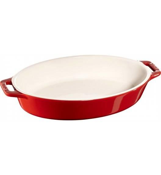STAUB COOKING Owalny półmisek ceramiczny / 1,1 l / Ø 23 cm / czerwony / ceramika