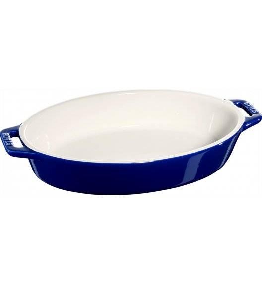 STAUB COOKING Owalny półmisek ceramiczny / 1,1 l / Ø 23 cm / niebieski / ceramika