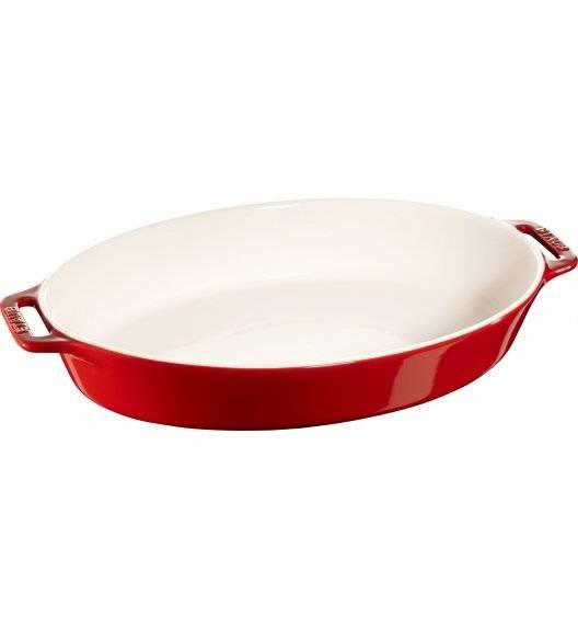 STAUB COOKING Owalny półmisek ceramiczny / 4 l / Ø 37 cm / czerwony / ceramika