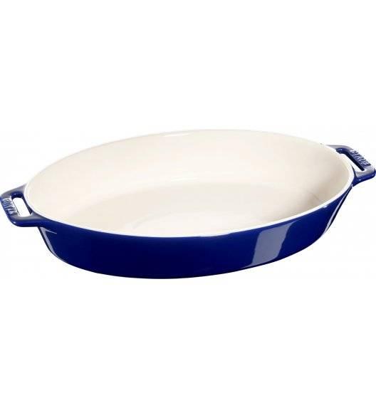 STAUB COOKING Owalny półmisek ceramiczny / 4 l / 37 cm / niebieski / ceramika