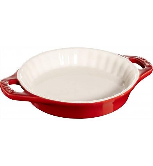 STAUB COOKING Okrągły półmisek ceramiczny do ciast / 200 ml / Ø 13 cm / czerwony / ceramika