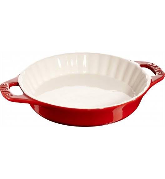 STAUB COOKING Okrągły półmisek ceramiczny do ciast / 1,2 l / Ø 24 cm / czerwony / ceramika