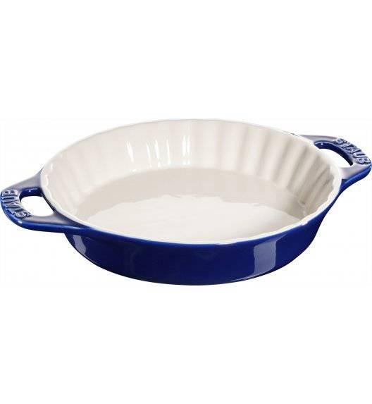 STAUB COOKING Okrągły półmisek ceramiczny do ciast / 1,2 l / Ø 24 cm / niebieski / ceramika