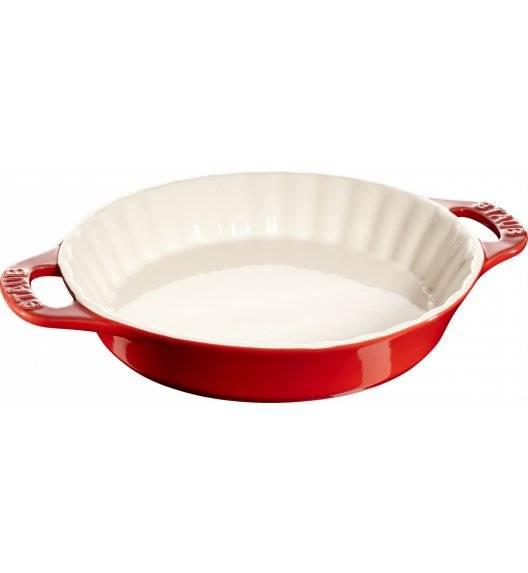STAUB COOKING Okrągły półmisek ceramiczny do ciast / 2 l / Ø 28 cm / czerwony / ceramika