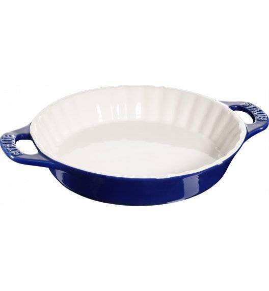 STAUB COOKING Okrągły półmisek ceramiczny do ciast / 2 l / Ø 28 cm / niebieski / ceramika