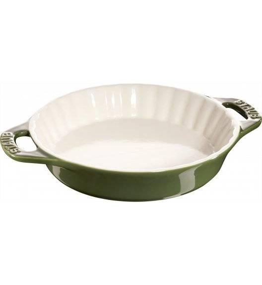 STAUB COOKING Okrągły półmisek ceramiczny do ciast / 1,2 l / Ø 24 cm / zielony / ceramika