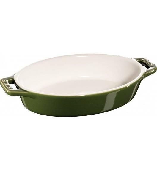 STAUB COOKING Owalny półmisek ceramiczny / 400 ml / Ø 17 cm / zielony / ceramika
