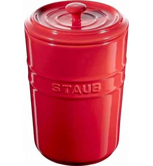 STAUB STORAGE Pojemnik do przechowywania / 1,5 l / czerwony / ceramika